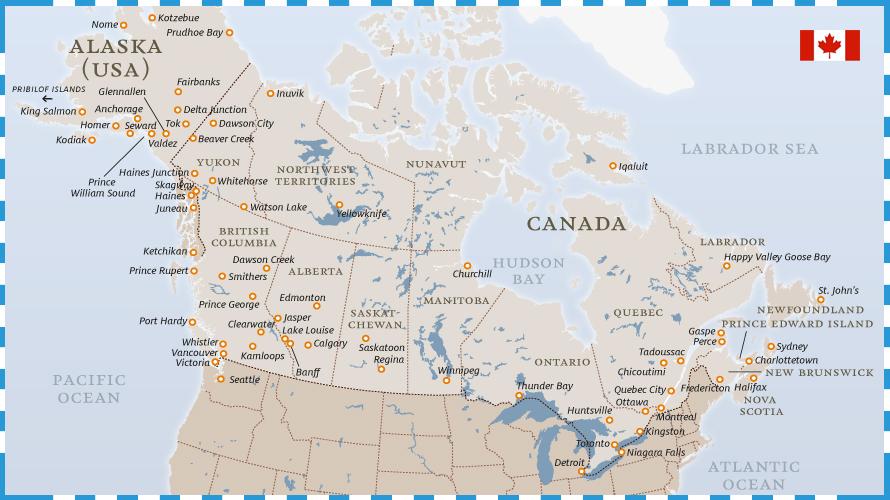 Canada Cartina Fisica.Trovare La Propria Citta Canadese Ideale Mon Petit Coin De Canada